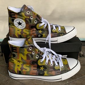 CONVERSE CTAS HI DARK MOSS/BLACK/WHITE MENS